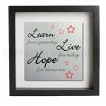Learn Live Hope Metal Wall Art
