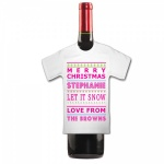 Personalised MERRY CHRISTMAS Let It Snow To Be Jolly  Bottle  Mini T Shirt