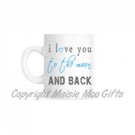 Blue I Love You To The Moon & Back Ceramic Mug