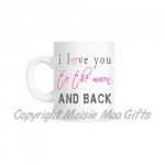 Pink I Love You To The Moon & Back Ceramic Mug