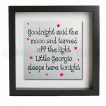 Goodnight Said The Moon.. Personalised Metal Wall Art