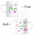 Personalised Mum Flower Mug