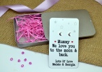 We/I Love You To The Moon & Back (Moons) Personalised Earring Gift Set