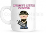 Mummy's Little Soldier Personalised Mug