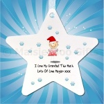 Personalised Love This Much Christmas Star Decoration