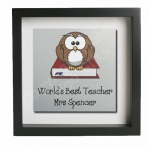 Worlds Best Teacher Personalised Metal Wall Art