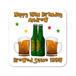Personalised Beer Bottle Birthday Coaster