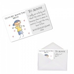 Personalised I Love My Auntie This Much Metal Wallet / Purse Sentimental Card