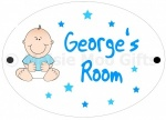 Personalised Baby Nursery Door Sign