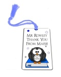 Personalised Blue Owl Thank You Teacher Gift Metal Bookmark