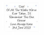 Personalised Dad Wedding Glasses Cleaning Cloth