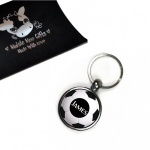 Personalised Football Metal Keyring In Gift Box