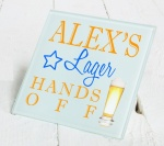 Personalised Lager Glass Gift Drinks Coaster