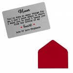 Personalised Mum Mammy Mummy You've Done So Many.. Brushed Steel Silver Style Metal Wallet / Purse Sentimental Card