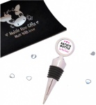 Personalised Pink Stars Bottle Stopper