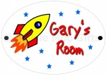 Personalised Rocket Door Sign