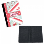 Personalised Shabby Chic Union Jack Passport Cover
