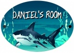 Personalised Shark Door Sign