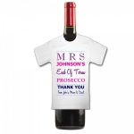 Personalised PROSECCO Bottle End Of Term Mini T Shirt