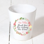 Personalised Teacher Teaching Assistant Thank You For Helping Me Grow Plant Pot