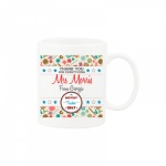 Personalised Thank You Teacher Gift Mug