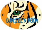 Personalised Tiger Door Sign