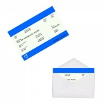 Personalised BLUE Train Ticket Metal Wallet / Purse Sentimental Card
