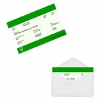 Personalised GREEN Train Ticket Metal Wallet / Purse Sentimental Card