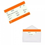 Personalised ORANGE Train Ticket Metal Wallet / Purse Sentimental Card