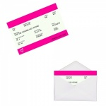 Personalised PINK Train Ticket Metal Wallet / Purse Sentimental Card