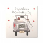 Personalised Congratulations Wedding Day Greeting Card