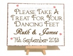 Personalised Dancing Feet Vintage Shabby Chic Style Metal Sign