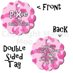 Camouflage Style Flower Double Sided Pet Tag