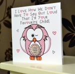 Personalised I Love How We Don't Have To Say Out Loud ..  Pink Owl Greeting Card