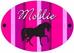 Personalised Striped Horse Door Plaque