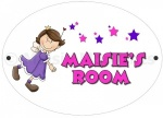 Personalised Fairy Princess Door Plaque
