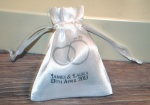 Personalised Wedding Rings Favour Satin Pouches