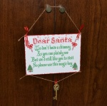 Dear Santa Hanging Traditional Plaque With Santa Key