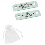 She Believed She Could.. So She Did! Metal Brushed Steel Running Trainer Tags