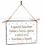 Special Teacher Hanging Vintage Style Design Plaque
