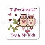 Tweethearts You & Me Owl Coaster