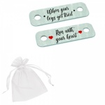When Your Legs Get Tired Run With Your Heart Metal Brushed Steel Running Trainer Tags