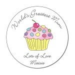 Worlds Greatest Mum Cupcake Personalised Coaster