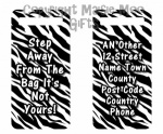 Personalised Zebra Print Luggage Tag