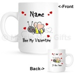 Personalised Bee My Valentine Gift Mug