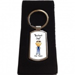 Personalised Bestest Dad Keyring