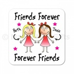 Personalised Friends Forever Coaster