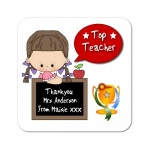 Thank You Teacher Chalkboard Gift Coaster