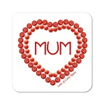 Mum In Heart Personalised Coaster