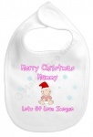 Merry 1st Christmas Mummy Personalised Bib